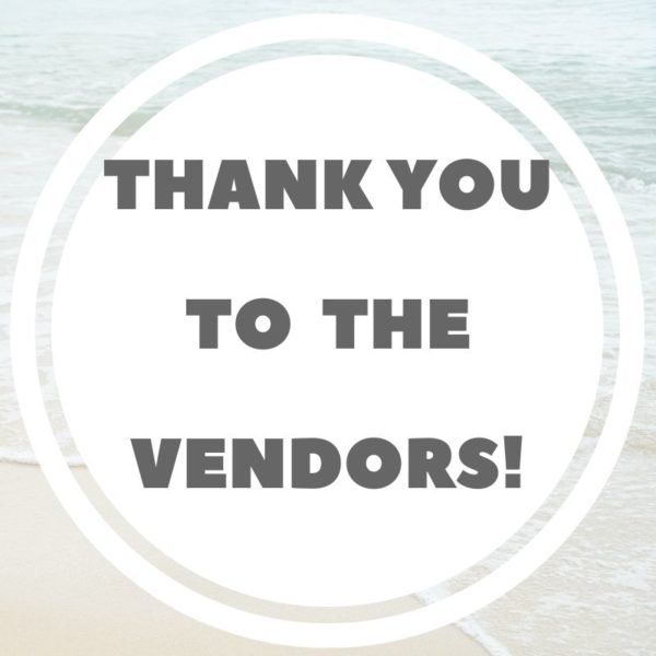 Thank you Vendors
